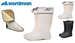 Guminiai batai NordMan Silla 629156 MOTERIŠKI, BALTI Zvejnieks kurpes