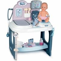 Gydytojo priežiūros rinkinys su lėle ir priedais 27 vnt. | Baby Care Centrum | Smoby 240300 Rotaļlietas meitenēm
