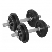 Hanteliai Dumbbellset 20kg, with 2 Bars Screw Weights, weights, vultures