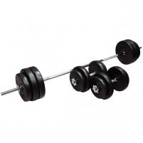 Hantelių rinkinys inSPORTline BS08 3-50 kg Svoriai, svarmenys, grifai
