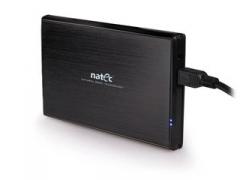 HDD korpusas Natec Rhino skirtas 2.5 SATA - USB3, Aliuminis, Dėklas rinkinyje