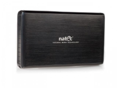 HDD korpusas Natec RHINO USB2.0, 3.5 SATA/IDE, Juodas aliuminis