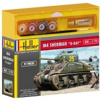 Heller plastikinis klijuojamas modelis Tankas 49892 SHERMAN 1/72 Stick patterns for kids