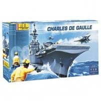 Heller plastikinis laivo modelio rinkinys 52905 1/400 - CHARLES DE GAULLE Klijuojami modeliai vaikams