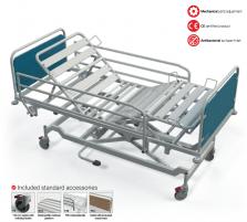 Hidraulinė funkcinė lova FBH, F8 - ratukas su krypties užraktu