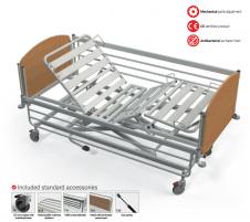 Hidraulinė funkcinė slaugos lova FBH-N, F8 - ratukas su krypties užraktu