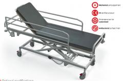 Hidraulinis gulinčio ligonio transportavimo vežimėlis TSH, F8 - ratukas su krypties užraktu