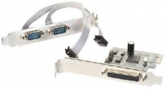i-Tec PCIe I/O Controller Card 2x Serial Rs232 (COM)  1x Parallel- PCI Express