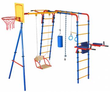 Įbetonuojamas sporto kompleksas vaikams JUNIOR ATLET PLIUS, iki 100kg Lauko treniruokliai