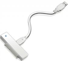 Icy Box kabelis su adapteriu SATA su 1x USB3.0 Baltas  HDD dėklas Baltas