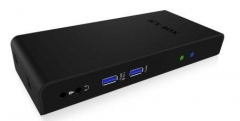 Icy Box Multi Docking Station for Notebooks and PCs, 2x USB 3.0, HDMI, Black