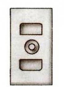 Ash hatch insert FIBO 260 x 134 x 30 mm, 1 kg
