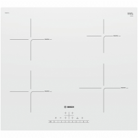 Įmontuojama orkaitė Bosch Hob PUE612FF1J Induction, Number of burners/cooking zones 4, White, Display, Timer Oven