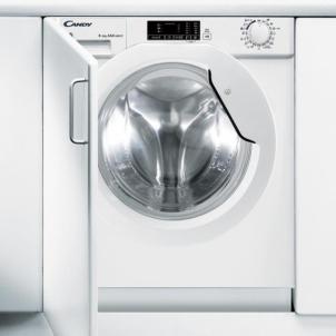 Įmontuojama skalbimo - džiovinimo mašina Candy CBWD8514D-S Įmontuojamos skalbimo mašinos
