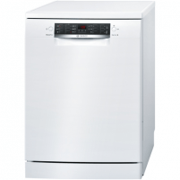 Indaplovė Bosch Dishwasher SMS46KW01E Free standing, Width 60 cm, Number of place settings 13, Number of programs 6, A++, Display, AquaStop function, White Indaplovės