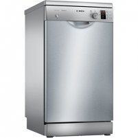 Indaplovė Bosch Dishwasher SPS25CI07E Free standing, Width 45 cm, Number of place settings 9, Number of programs 5, A+, Display, AquaStop function, Silver Indaplovės