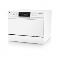 Indaplovė ETA Dishwasher ETA138490000 Free standing, Width 55 cm, Number of place settings 6, Number of programs 8, A+, Display, AquaStop function, White Indaplovės