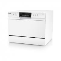 Indaplovė ETA Dishwasher ETA138490000 Free standing, Width 55 cm, Number of place settings 6, Number of programs 8, A+, Display, AquaStop function, White Trauku mazgājamā mašīna