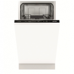 Indaplovė Gorenje Dishwasher GV54110 Built in, Width 45 cm, Number of place settings 9, Number of programs 5, A++, Display, AquaStop function, White Indaplovės
