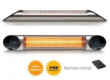 Infraraudonųjų spindulių šildytuvas Veito Blade S, 2500W, sidabrinis