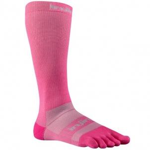 Injinji Compression Ex-Celerator 2.0 OTC kompresinės penkių pirštų kojinės (Rožinės) Moteriškos pėdkelnės / Kojinės