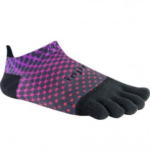 Injinji RUN 2.0 Lightweight No-Show penkių pirštų kojinės (Violetinė/Raudona/Juoda) Women's tights/stockings