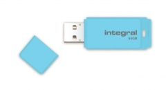 Integral Flash Drive Pastel 64GB, USB 3.0, Blue Sky