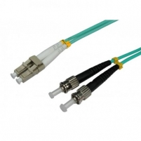 Intellinet Fiber optic patch cable ST-LC duplex 1m 50/125 OM3 multimode Tv, telephone and computer cables