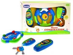Interaktyvus žaislinis vairas ir telefonas Muzikiniai žaislai