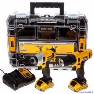DeWalt DCK211D2T (DCD710 + DCF815); 10,8 V; 2x2,0 Ah įrankių rinkinys Battery tool kits