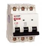 Išjungiklis automatinis, 3P, C, 10A, 6kA, EKF 1340 220 v, automatic switches