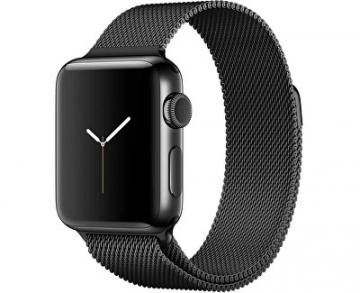 Išmanusis laikrodis Apple Watch Series 2 38mm vesmírně černá nerezová ocel s vesmírně černým milánským tahem Išmanieji laikrodžiai ir apyrankės