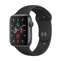 Išmanusis laikrodis Apple Watch Series 5 GPS, 44mm Space Grey Aluminium Case with Black Sport Band - S/M & M/L LT Išmanieji laikrodžiai ir apyrankės