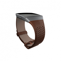 Išmanusis laikrodis Fitbit Ionic Accessory Perforated Leather Band Dark Brown - Large Išmanieji laikrodžiai ir apyrankės