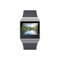 Išmanusis laikrodis Fitbit Ionic Colour LCD, 320 g, Touchscreen, Bluetooth, Heart rate monitor, Charcoal/Smoke Gray, GPS (satellite) Išmanieji laikrodžiai ir apyrankės