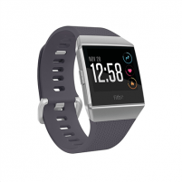 Išmanusis laikrodis Fitbit Ionic Colour LCD, 320 g, Touchscreen, Bluetooth, Heart rate monitor, Blue Gray/White, GPS (satellite) Išmanieji laikrodžiai ir apyrankės