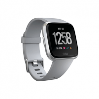Išmanusis laikrodis Fitbit Versa (NFC) smartwatch Color LCD, Touchscreen, Bluetooth, Heart rate monitor, Gray / Silver Aluminum Išmanieji laikrodžiai ir apyrankės