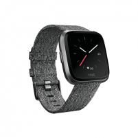 Išmanusis laikrodis Fitbit Versa (NFC) smartwatch Color LCD, Touchscreen, Bluetooth, Heart rate monitor, Special Edition Charcoal Woven Išmanieji laikrodžiai ir apyrankės