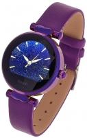 Išmanusis laikrodis Garett Women Lisa violetinis, odinis Išmanieji laikrodžiai ir apyrankės