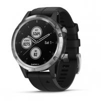 Išmanusis laikrodis Garmin FENIX 5 Plus silver with black band (010-01988-11) Išmanieji laikrodžiai ir apyrankės