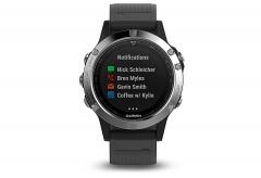 Išmanusis laikrodis Garmin FENIX 5 silver with black band (010-01688-03) Išmanieji laikrodžiai ir apyrankės