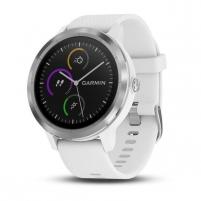 Išmanusis laikrodis Garmin Vivoactive 3 white silicone stainless steel (010-01769-22) Išmanieji laikrodžiai ir apyrankės
