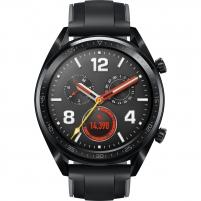 Išmanusis laikrodis Huawei Watch GT black stainless steel with graphite black silicone strap 46mm (FTN-B19) Išmanieji laikrodžiai ir apyrankės