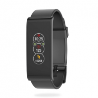 Išmanusis laikrodis MyKronoz Smartwatch Zefit4 HR Black/Black, Activity tracker with smart notifications, 80 mAh, Touchscreen, Bluetooth, Heart rate monitor, Išmanieji laikrodžiai ir apyrankės