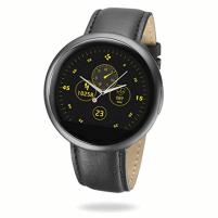 Išmanusis laikrodis MyKronoz Smartwatch ZeRound 2 HR Premium TFT color touchscreen, 53 g, Touchscreen, Bluetooth, Built-in pedometer, Heart rate monitor, Brushed Black/Black Flat, Waterproof Išmanieji laikrodžiai ir apyrankės