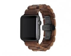 Išmanusis laikrodis Woodcessories EcoStrap Apple Watch Band 42-44mm walnut/black eco146 Išmanieji laikrodžiai ir apyrankės