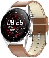 Išmanusis laikrodis Wotchi Smartwatch W42BL - Brown Leather Išmanieji laikrodžiai ir apyrankės