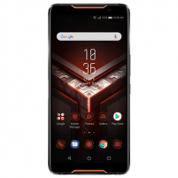 "Išmanusis telefonas Asus ROG Phone ZS600KL Black, 6 "", AMOLED FHD+, 1080 x 2160 pixels, Qualcomm, SDM845, Internal RAM 8 GB, 128 GB, Dual SIM, Nano SIM, 4G, Main camera 12+8 MP, Secondary camera 8 MP, Android, 8.1, 4000 mAh Mobilūs telefonai"