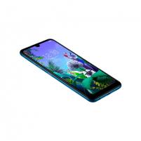 "Smart phone LG Q60 Blue, 6.26 "", IPS LCD, 720 x 1520 pixels, Internal RAM 3 GB, 64 GB, microSD, Dual SIM, Nano-SIM, 3G, 4G, Main camera 16+5+2 MP, Secondary camera 13 MP, Android, 9.0, 3500 mAh Mobile phones"