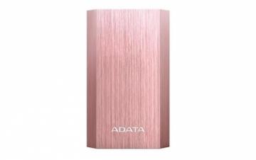Išorinė baterija ADATA A10050 Power Bank 10050mAh, Type-A USB, rose gold